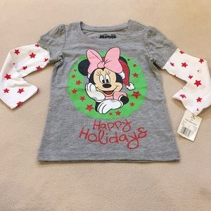 NWT Disney's Minnie Mouse holiday T-shirt, 2t